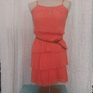 Lily Rose Orange Coral Dress